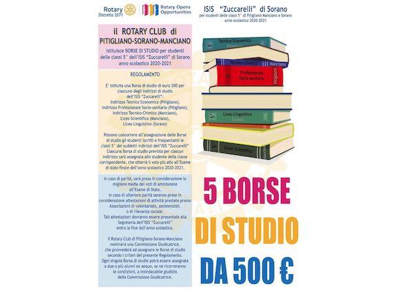 """Borse di studio per l'Isis """"Zuccarelli"""" dal Rotary Club di Pitigliano-Sorano-Manciano"""