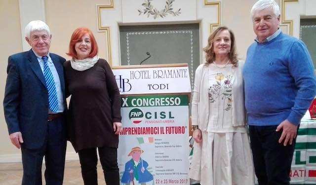 Il X Congresso della Fnp Cisl Umbria conferma Giorgio Menghini alla guida dei pensionati