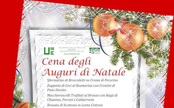 Unitre Orvieto, cena degli auguri di Natale ed assemblea generale