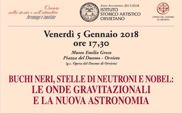 """""""Buchi neri, stelle di neutroni e Nobel: le onde gravitazionali e la nuova astronomia"""""""