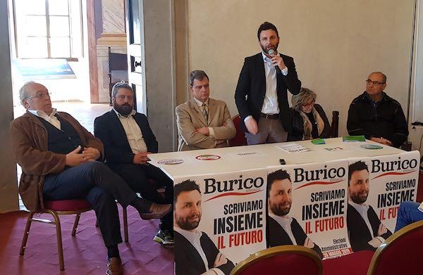 """Cinque liste per la coalizione """"Burico Sindaco"""""""