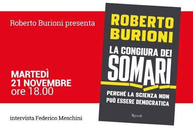"""Roberto Burioni presenta il libro """"La congiura dei somari"""""""