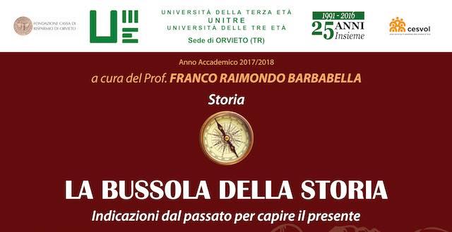 """All'Unitre percorso di tre incontri seguendo """"La Bussola della Storia"""""""