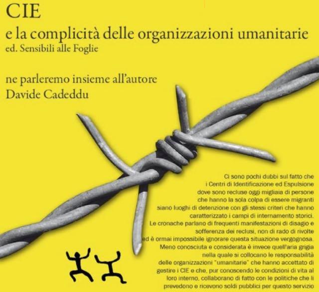 """Si presenta il libro """"Cie e le complicità delle organizzazioni umanitarie"""""""