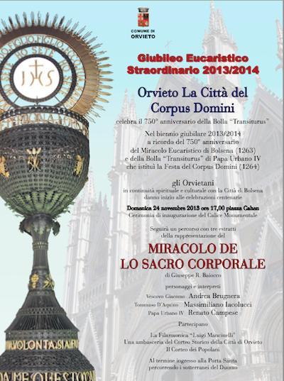 Da Bolsena a Orvieto. Un calendario di eventi in arrivo in occasione del Giubileo Eucaristico Straordinario