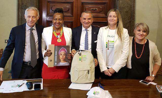 """Via a """"Italian Wonder Ways"""", promozione internazionale dei cammini del Centro Italia con Ndileka Mandela"""