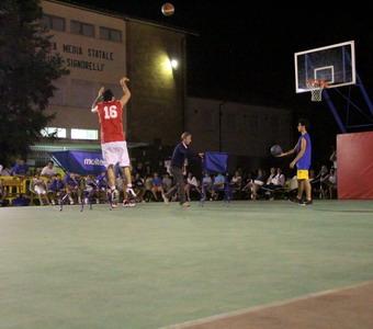 """Realizzazione dell'impianto di pubblica illuminazione dei campi da basket della scuola """"L. Signorelli"""""""