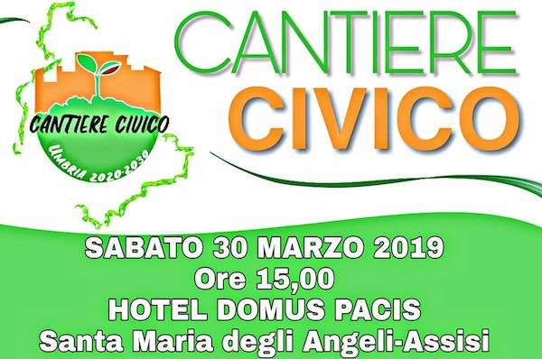 """Ambiente e lavoro al centro di """"Cantiere Civico. Umbria 2020-2030"""""""