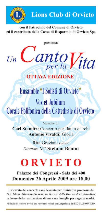Un canto per la vita. Domenica 26 aprile alle ore 18 la Corale Vox et Jubilum a Palazzo del Popolo. Iniziativa a favore della casa famiglia della Diocesi per ragazze madri