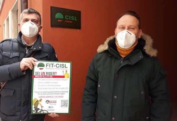 Rider, oggi l'open day formativo di Fit-Cisl Umbria su diritti e trattamento economico