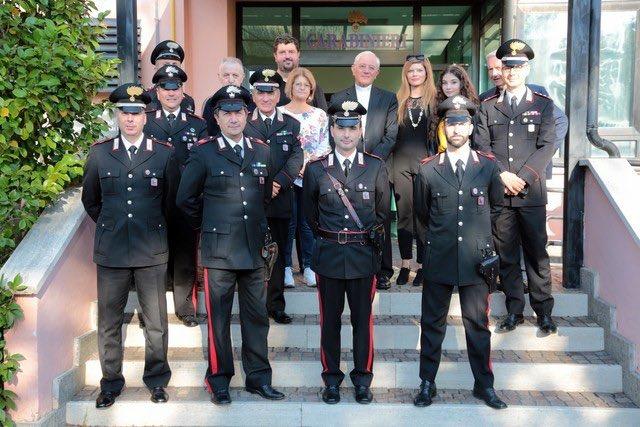 Visita pastorale del vescovo Tuzia, il saluto della Stazione Carabinieri
