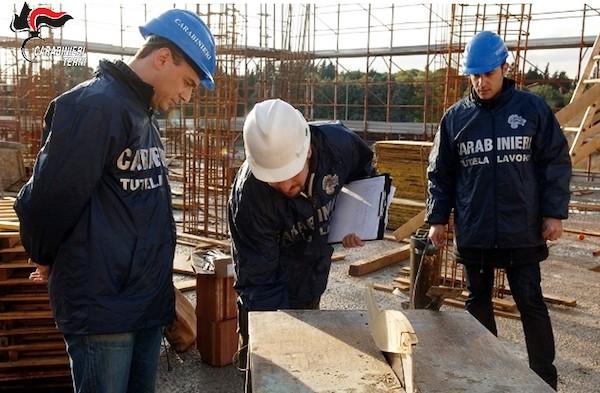 Edilizia, controlli e sanzioni da parte del Nucleo Carabinieri Ispettorato del Lavoro
