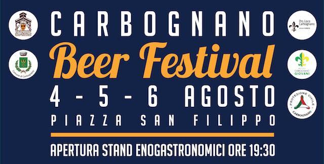 Musica dal vivo, birra e gastronomia al Carbognano Beer Festival