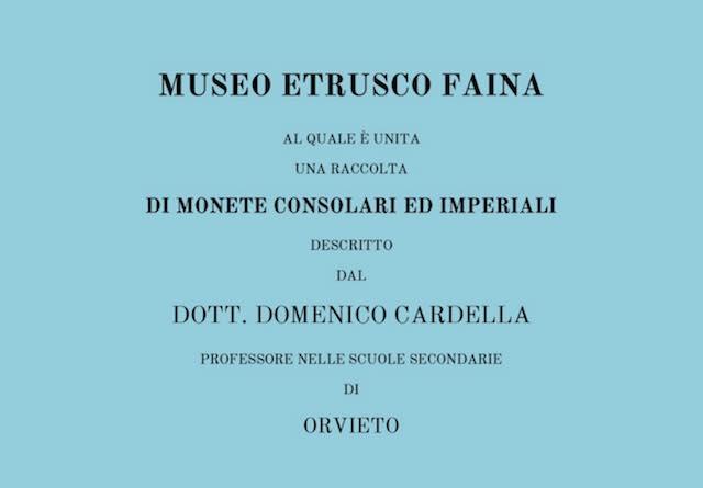 Museo Faina aperto il 25 aprile e il 1 maggio. Disponibile la ristampa della prima guida