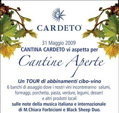 """Domenica 31 Maggio 2009 """"Cantine aperte"""" alla Cantina Cardeto"""