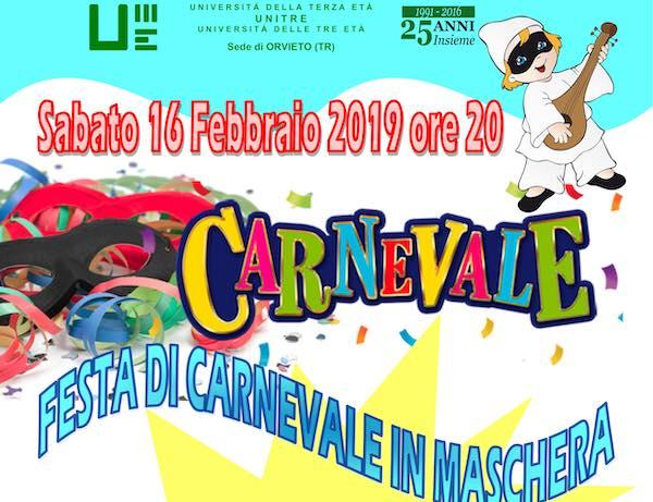 Festa di Carnevale in maschera con l'Unitre