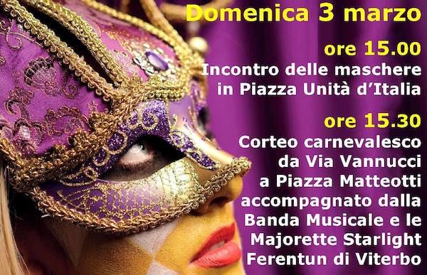 Carnevale a Città della Pieve, dove lo sport si sfida in maschera