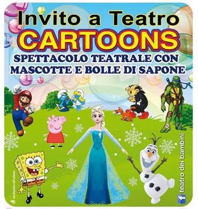 """Al Teatro del Carmine una colorata invasione di """"Cartoons"""""""
