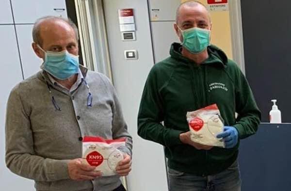 I Pagliacci e Intermana Nahars  consegnano le prime 300 mascherine all'Ospedale