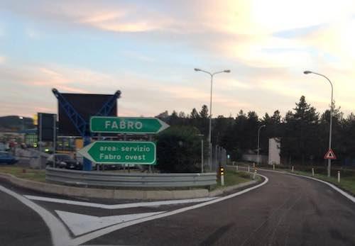 Chiusura notturna per il casello di Fabro in uscita per il traffico proveniente da Firenze