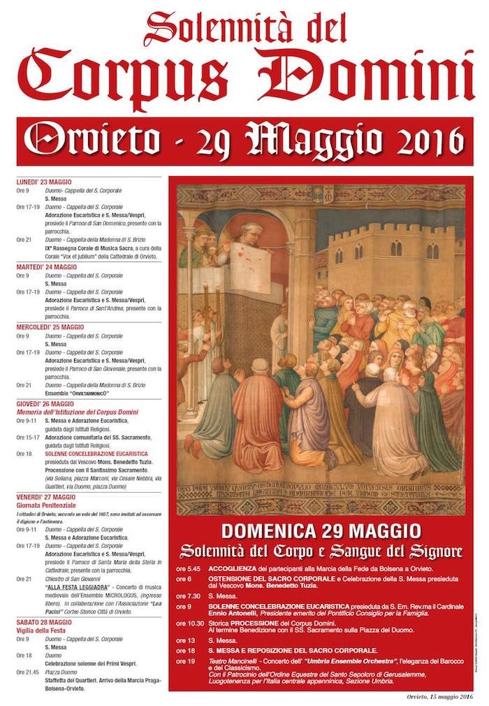 Solennità del Corpus Domini. Gli appuntamenti 2016
