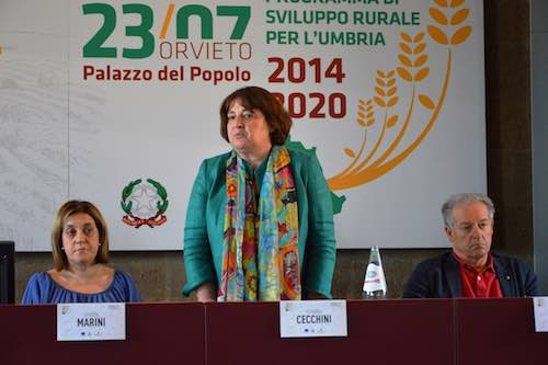 """Programma sviluppo rurale. Cecchini: """"L'Umbria ha già speso quasi il 15% delle risorse 2014/2020"""""""