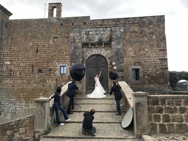Castello Orsini diventa location per lo shooting fotografico di Glen Spose