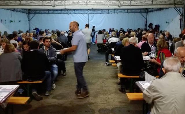 """""""Insieme per Amatrice"""", la cena solidale di Montegabbione raccoglie 4.935 euro"""