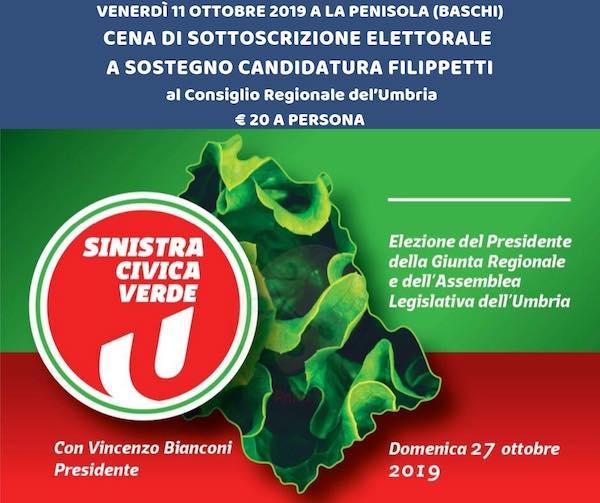"""""""Sinistra Civica Verde per una nuova Umbria e contro le destre"""""""