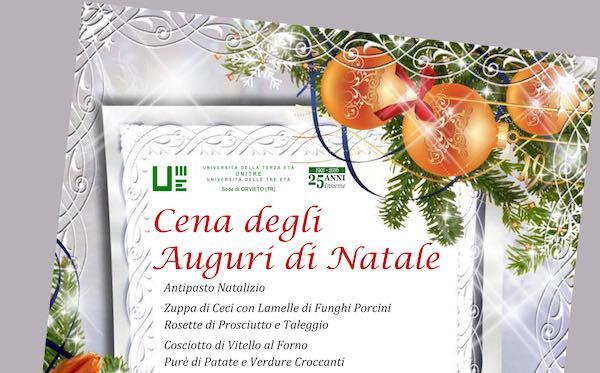 Cena degli Auguri di Natale ed assemblea generale per l'Unitre