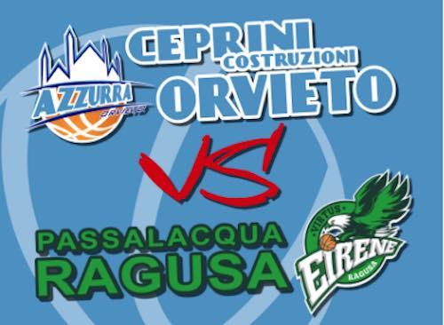 L'Azzurra Ceprini se la vede con la Virtus Passalacqua Ragusa, imbattuta capolista del campionato