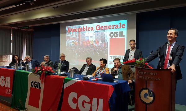 Cgil Terni, Claudio Cipolla è il nuovo segretario generale