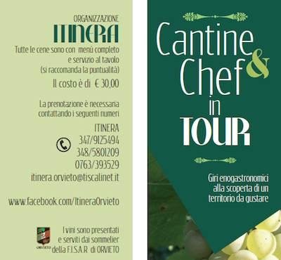 """In cantiere l'iniziativa """"Cantine e Chef in Tour"""", percorsi enogastronomici alla scoperta di un territorio da gustare"""
