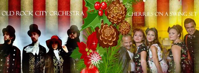 """Rockin' Christmas Carols"". Al S.Cristina ""Cherries on a Swing Set"" e ""Old Rock City Orchestra"""