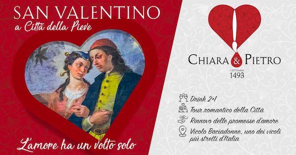 """""""Chiara & Pietro. L'amore ha un volto solo"""" nel weekend di San Valentino"""