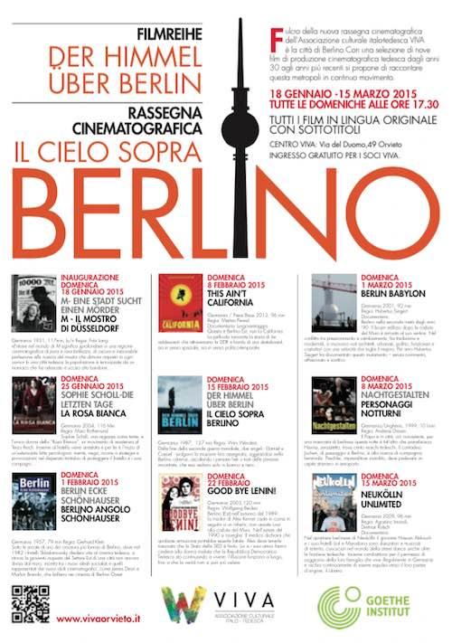 """Nove film d'autore al Centro Viva per la rassegna cinematografica """"Il cielo sopra Berlino"""""""