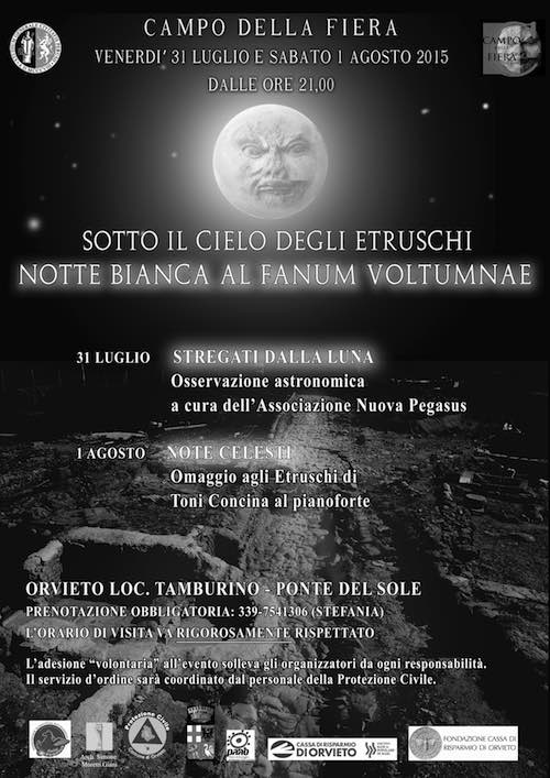 """""""Sotto il cielo degli Etruschi"""". Doppia notte bianca al Fanum Voltumnae"""