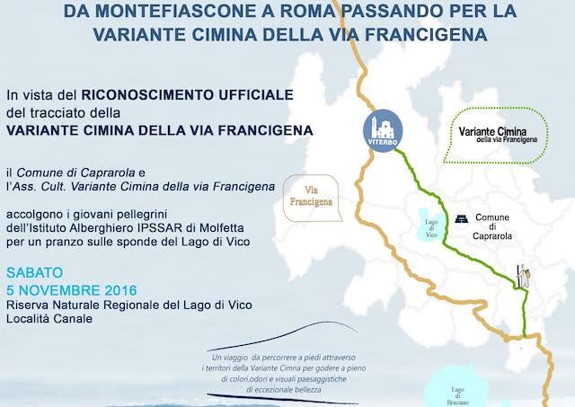 """""""Da Montefiascone a Roma passando per la variante cimina della Via Francigena"""""""
