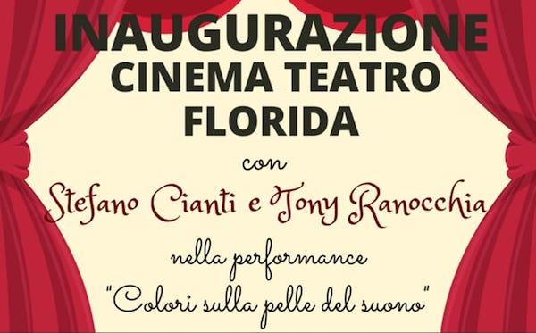 Dopo il restauro si alza il sipario del Cinema Teatro Florida. L'inaugurazione in diretta streaming