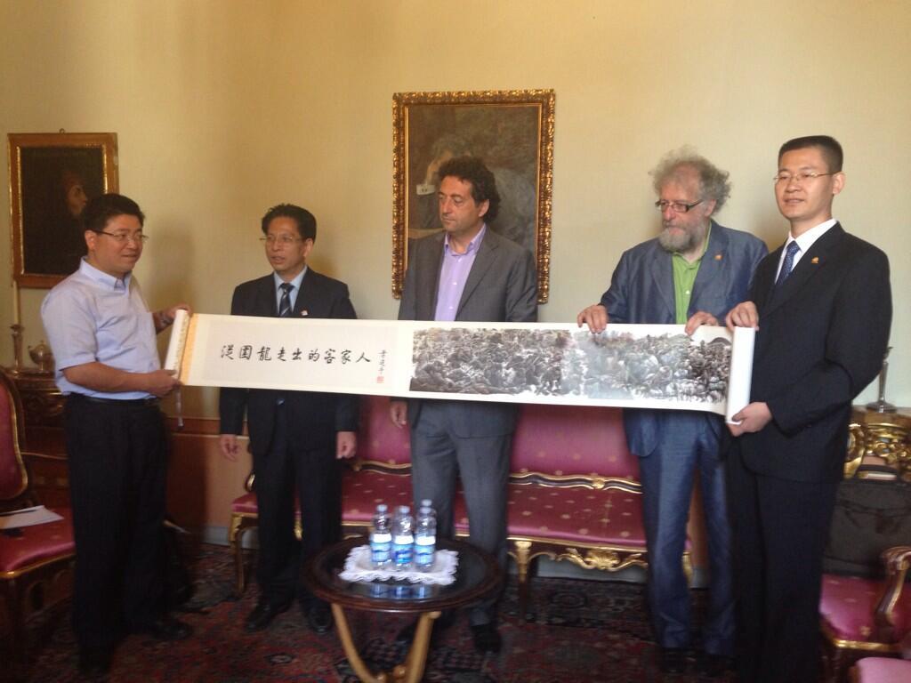 Ricevuta dal Sindaco la delegazione della Cittaslow cinese di Yanyang