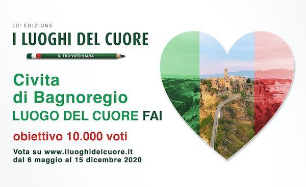 Luoghi del Cuore FAI, Civita di Bagnoregio al 22esimo posto in Italia e al terzo nel Lazio