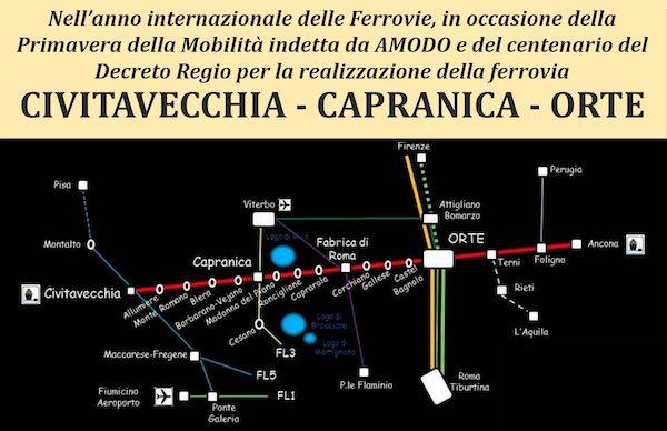"""""""Corridoio ferroviario trasversale Civitavecchia-Orte-Ancona occasione di rilancio dell'Italia Centrale"""""""