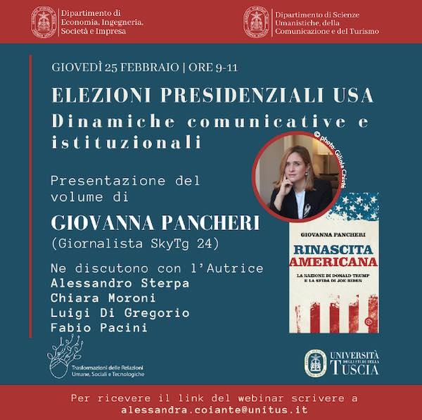 In occasione del seminario sulle elezioni presidenziali USA, Giovanna Pancheri ospite di Unitus