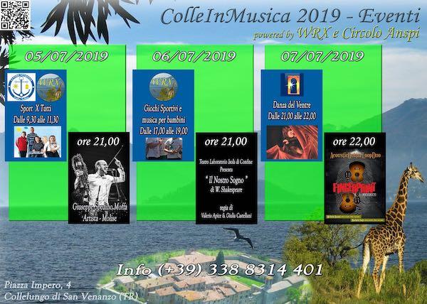 """""""ColleinMusica"""". Terza edizione tra world music, chitarra acustica, teatro, danza e sport"""
