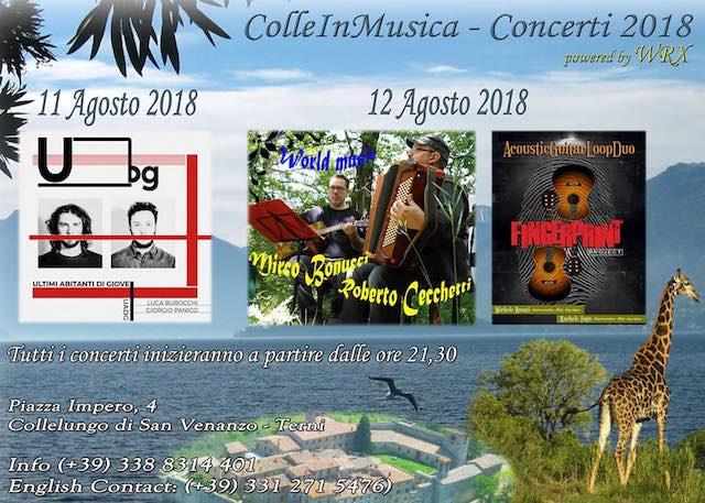 """""""ColleinMusica 2018"""". Il festival raddoppia, tra world music e chitarra acustica"""