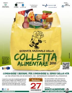 Sabato 27 novembre è la Giornata Nazionale della Colletta Alimentare
