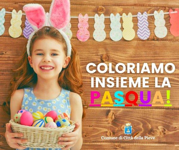"""""""Coloriamo insieme la Pasqua"""". L'invito del sindaco Risini ai più piccoli"""
