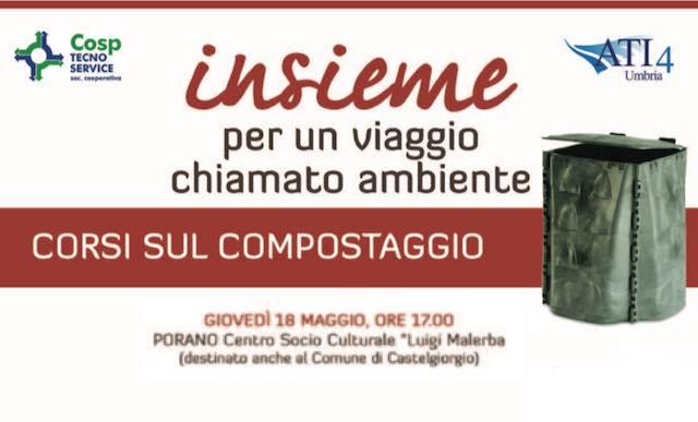 Corso di compostaggio domestico alla Sala Malerba promosso da Cosp Tecno Service e Comune