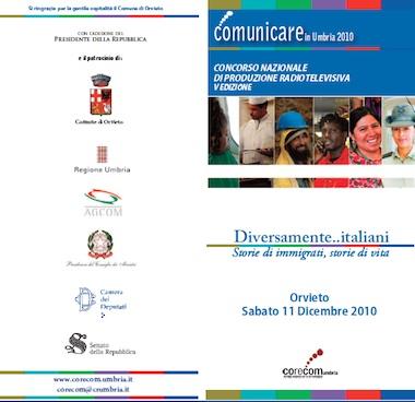 """""""Diversamente...italiani"""": sabato 11 dicembre a Orvieto la premiazione del Concorso Comunicare in Umbria e i risultati della ricerca sull'immigrazione dell'UniPg"""