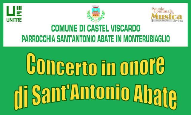 A Monterubiaglio, musica classica per i festeggiamenti di Sant'Antonio Abate